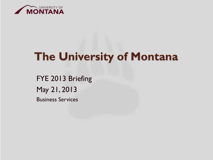 the university of montana n.
