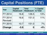 capital positions fte