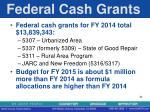 federal cash grants