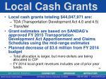 local cash grants