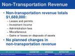 non transportation revenue