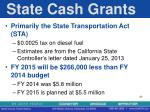 state cash grants