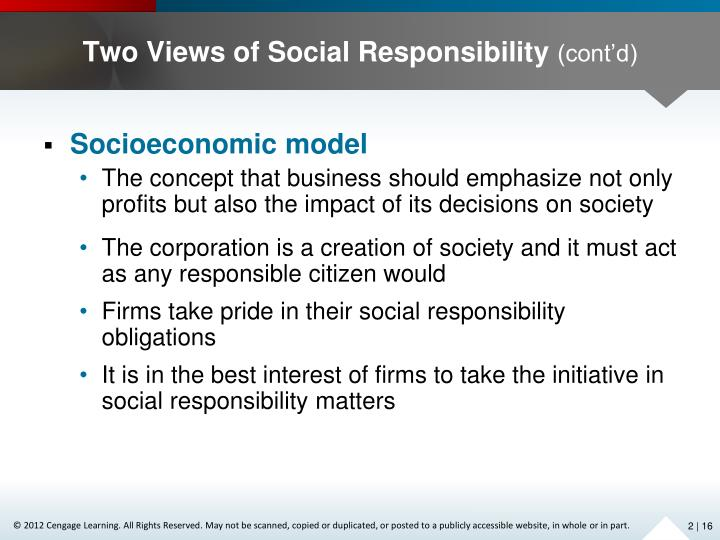 Two Views of Social Responsibility