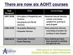 there are now six aoht courses