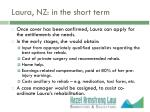 laura nz in the short term