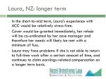 laura nz longer term