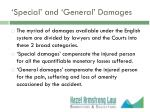 special and general damages