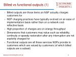 billed vs functional outputs 1