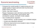 economic benchmarking