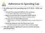 adherence to spending cap1