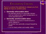 exculpatory clauses