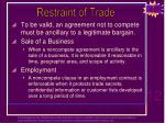 restraint of trade