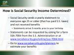 how is social security income determined1