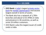 about icici bank
