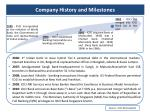 company history and milestones
