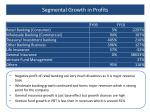 segmental growth in profits