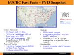 i ucrc fast facts fy13 snapshot