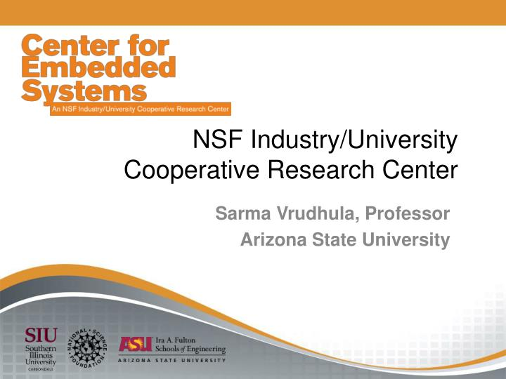 nsf industry university cooperative research center n.