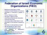 federation of israeli economic organizations fieo