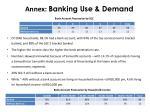 annex banking use demand