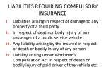 liabilities requiring compulsory insurance