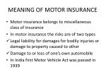 meaning of motor insurance