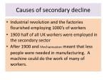 causes of secondary decline