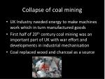 collapse of coal mining