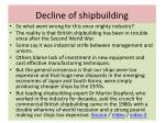 decline of shipbuilding