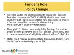 funder s role policy change