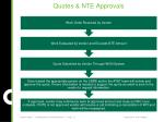 quotes nte approvals