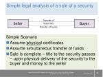 simple legal analysis of a sale of a security