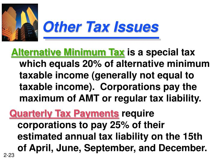 Other Tax Issues