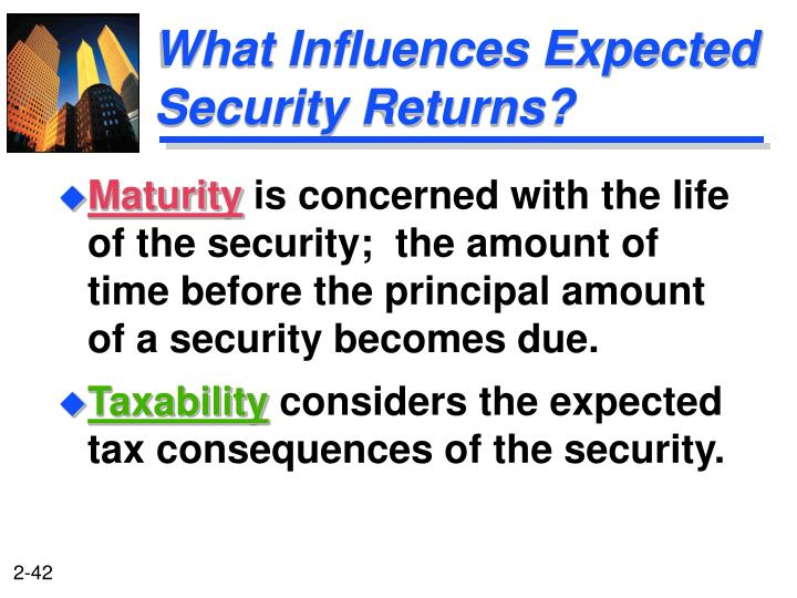 What Influences Expected Security Returns?