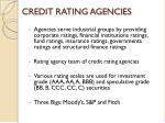 credit rating agencies1