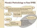 moody s methodology to rate rmbs