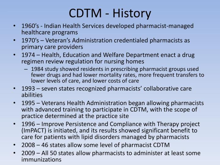 CDTM - History