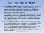 nc the ashville project