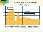 ca v us population growth 1971 2049