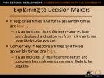 explaining to decision makers
