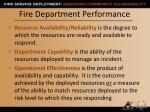 fire department performance