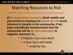 matching resources to risk