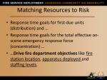 matching resources to risk2