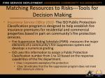 matching resources to risks tools for decision making2