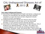 cal undiagnosed diseases act of 20131