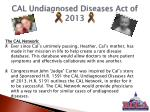 cal undiagnosed diseases act of 20132