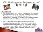 cal undiagnosed diseases act of 20133