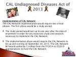 cal undiagnosed diseases act of 20134