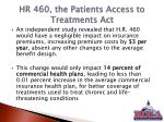 hr 460 the patients access to treatments act2