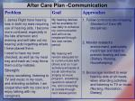 after care plan communication